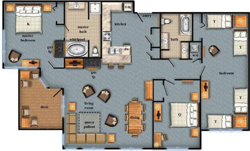wyndham smoky mountains floor plans trend home design